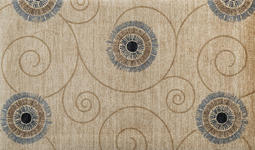 FUßMATTE 70/120 cm Graphik Beige  - Beige, Basics, Kunststoff/Textil (70/120cm) - Esposa