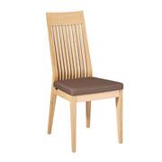 STUHL Wildeiche massiv Braun, Eichefarben  - Eichefarben/Braun, Design, Holz/Textil (45/102/60cm) - Venjakob