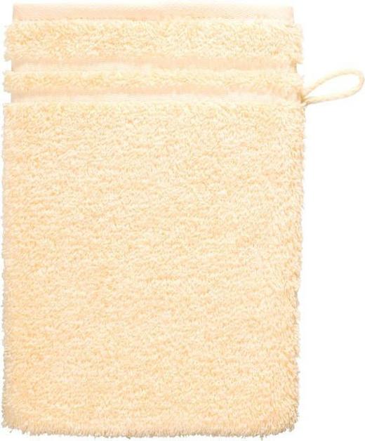 WASCHHANDSCHUH - Hellgelb, Basics, Textil (22/16cm) - Vossen