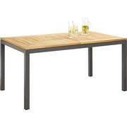 GARTENTISCH - Anthrazit/Naturfarben, Design, Holz/Metall (150-210/74/90cm) - Ambia Garden