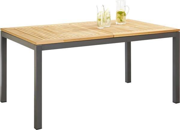 Gartentisch holz metall  GARTENTISCH Holz, Metall Anthrazit, Naturfarben online kaufen ...