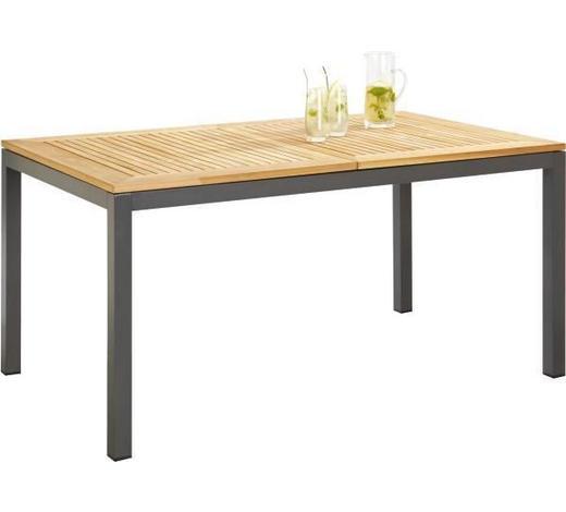 ZAHRADNÍ STŮL - přírodní barvy/antracitová, Design, kov/dřevo (150(210)/90/74cm) - Ambia Garden
