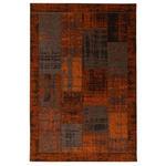 FLACHWEBETEPPICH  60/90 cm  Kupferfarben   - Kupferfarben, Trend, Textil (60/90cm) - Novel