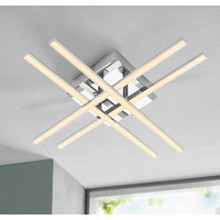 LED-TAKLAMPA - kromfärg, Design, metall/plast (50/50/9cm) - Novel