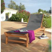 GARTENLIEGE - Naturfarben/Grau, Design, Holz/Textil (65/34/210cm) - Ambia Garden