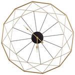 WANDUHR  Schwarz, Goldfarben 87 cm  - Goldfarben/Schwarz, Basics, Metall (87cm) - Ambia Home