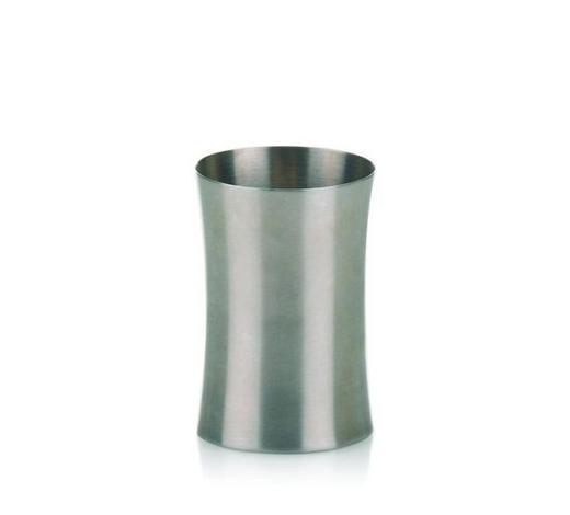 ZAHNPUTZBECHER - Edelstahlfarben, Basics, Metall (8.5/10cm) - Kela