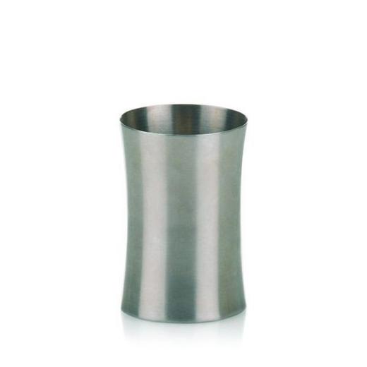 ZAHNPUTZBECHER - Edelstahlfarben, Basics, Metall (8.5/10cm)