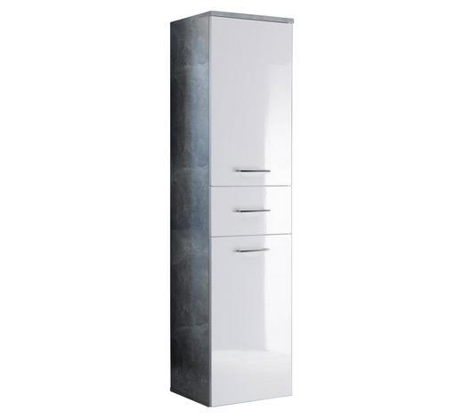 HOCHSCHRANK 40/160/35 cm - Chromfarben/Hellgrau, Design, Holzwerkstoff/Metall (40/160/35cm)