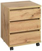 ROLLCONTAINER - Eichefarben, KONVENTIONELL, Holzwerkstoff/Kunststoff (45/57/39,6cm) - Hom`in