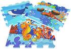 PUZZLEMATTE SEA WORLD - Blau, Design, Kunststoff (122/92/1cm)