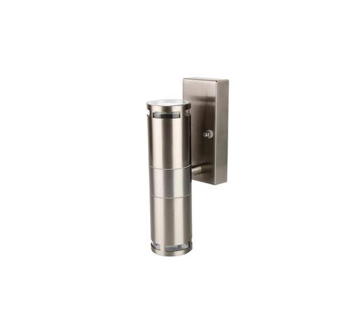 AUßENWANDLEUCHTE Silberfarben  - Silberfarben, Design, Glas/Kunststoff (10,6/6,6/22cm) - Ambia Garden