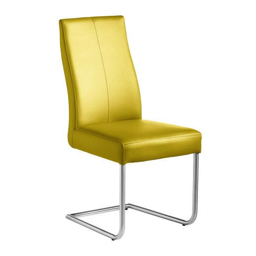 SCHWINGSTUHL Webstoff Edelstahlfarben, Limette - Edelstahlfarben/Limette, Design, Textil/Metall (46/97/59cm) - Valnatura
