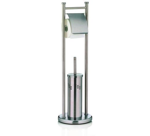 WC-BÜRSTENGARNITUR - Basics, Kunststoff/Metall (22/77.5cm) - Kela