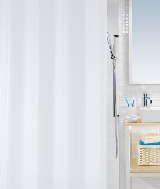 DUSCHVORHANG  Weiß - Weiß, Basics, Kunststoff (180/200cm)