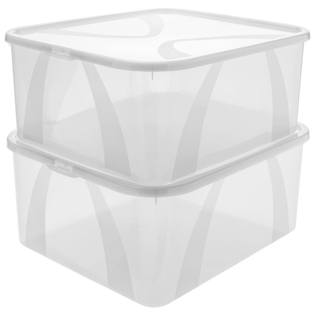 Image of Rotho Aufbewahrungsboxen-set 42/35/17 cm , 1119800096Lz , Transparent , Kunststoff , 35x17 cm , Deckel abnehmbar , 003294028801