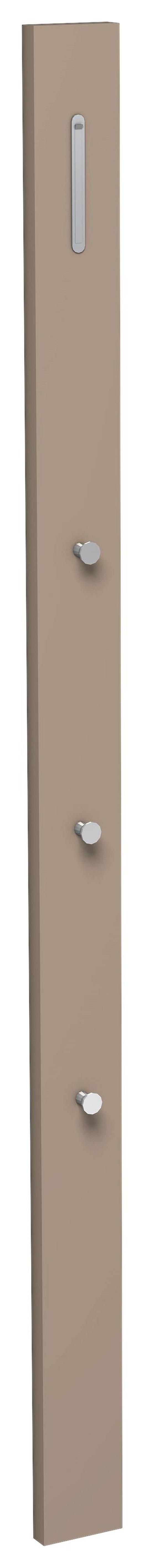 GARDEROBENPANEEL - Taupe, Design, Holzwerkstoff/Metall (10/165/3cm) - Moderano