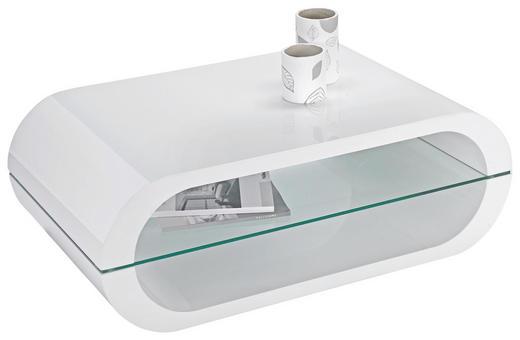 COUCHTISCH formgebogen Weiß - Weiß, Design, Glas (100/35,50/60cm) - Xora