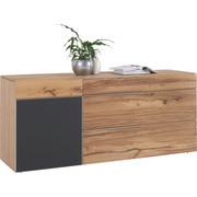 KOMODA SIDEBOARD - barvy stříbra/černá, Natur, kov/dřevo (192/82/51,6cm) - Voglauer