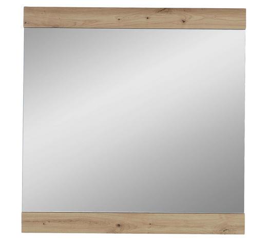 WANDSPIEGEL  - Eichefarben, Design, Glas/Holzwerkstoff (84/86/2cm) - Voleo
