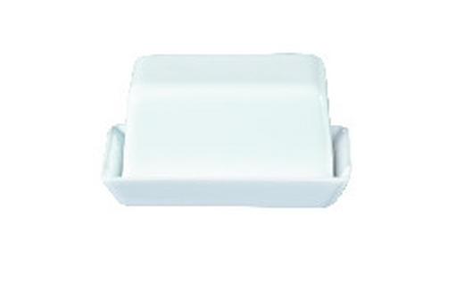 BUTTERDOSE Steinzeug - Weiß, Basics (10,5/5/8cm) - ASA