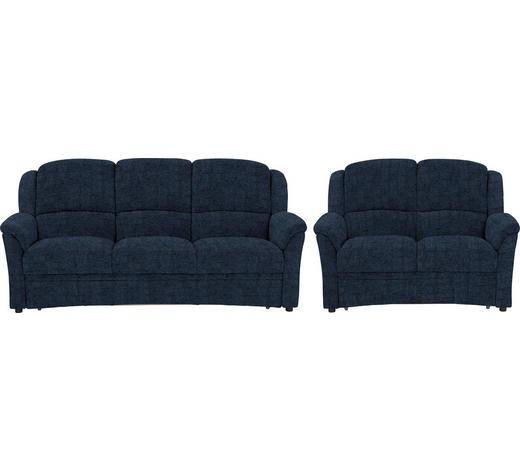SITZGARNITUR in Textil Blau  - Blau/Schwarz, KONVENTIONELL, Kunststoff/Textil (204/98/89cm) - Beldomo Comfort