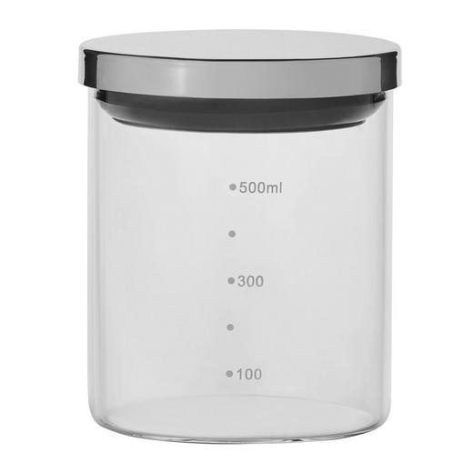 VORRATSGLAS 0,7 L - Klar/Silberfarben, Basics, Glas/Kunststoff (9/12cm) - Homeware