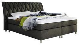 BOXSPRINGBETT 140 cm   x 200 cm   in Textil Braun - Silberfarben/Braun, Design, Textil (140/200cm) - Hom`in