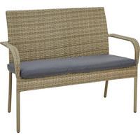 VRTNA KLUPA - siva/smeđa, Konvencionalno, metal/tekstil (115/92/58cm) - AMBIA GARDEN