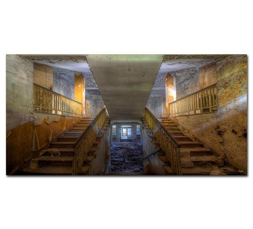 """Architektur BILD """"WHEN THE LAST LIGHT""""  - Multicolor, Basics, Holzwerkstoff/Kunststoff (200/100cm) - Wiedemann"""