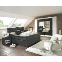 POSTEL BOXSPRING, 180 cm  x 200 cm, textilie, antracitová - černá/antracitová, Konvenční, textilie/umělá hmota (180/200cm) - Esposa