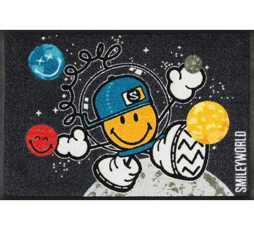 FUßMATTE  50/75 cm  Dunkelgrau, Multicolor - Dunkelgrau/Multicolor, Basics, Kunststoff/Textil (50/75cm) - Esposa
