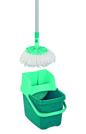 SET ZA ČIŠĆENJE PODA - zelena, Konvencionalno, plastika - Leifheit