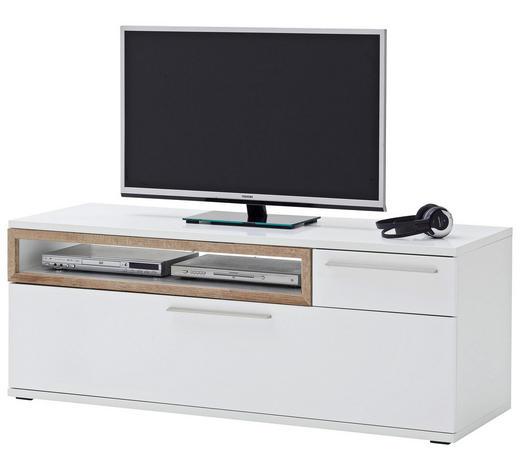 TV-ELEMENT 150/57/50 cm - Eichefarben/Weiß, Design, Holzwerkstoff/Metall (150/57/50cm) - Novel