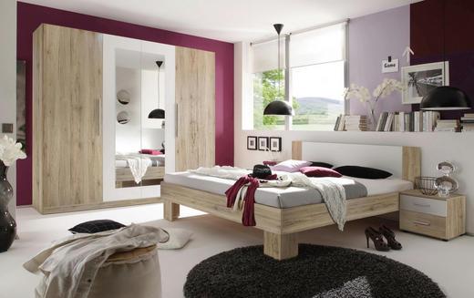 SPAVAĆA SOBA - bijela/boje hrasta, Design, drvni materijal (228/200/213/62/180cm) - BOXXX