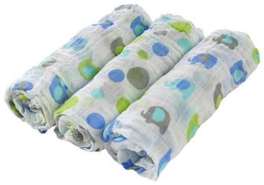 STOFFWINDEL - Blau/Weiß, Basics, Textil (80 80 cm) - My Baby Lou