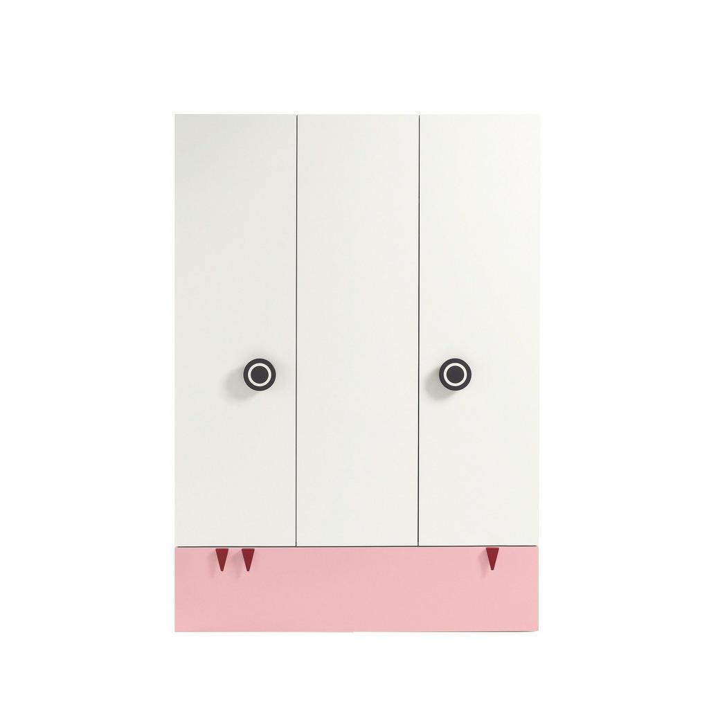 Babykleiderschrank 'Minimo' in Weiß und Hellrosa von Hülsta