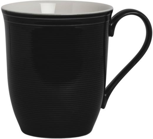 ŠÁLEK JUMBO, porcelán - bílá/černá, Design, keramika (0,35l) - Novel