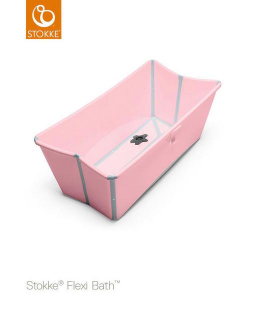 OTROŠKA KOPALNA KAD FLEXI BATH - roza, Basics, umetna masa (66/34/24cm) - STOKKE