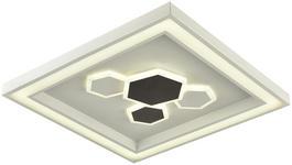 LED-DECKENLEUCHTE - Schwarz/Weiß, Design, Kunststoff/Metall (48/48cm) - Novel