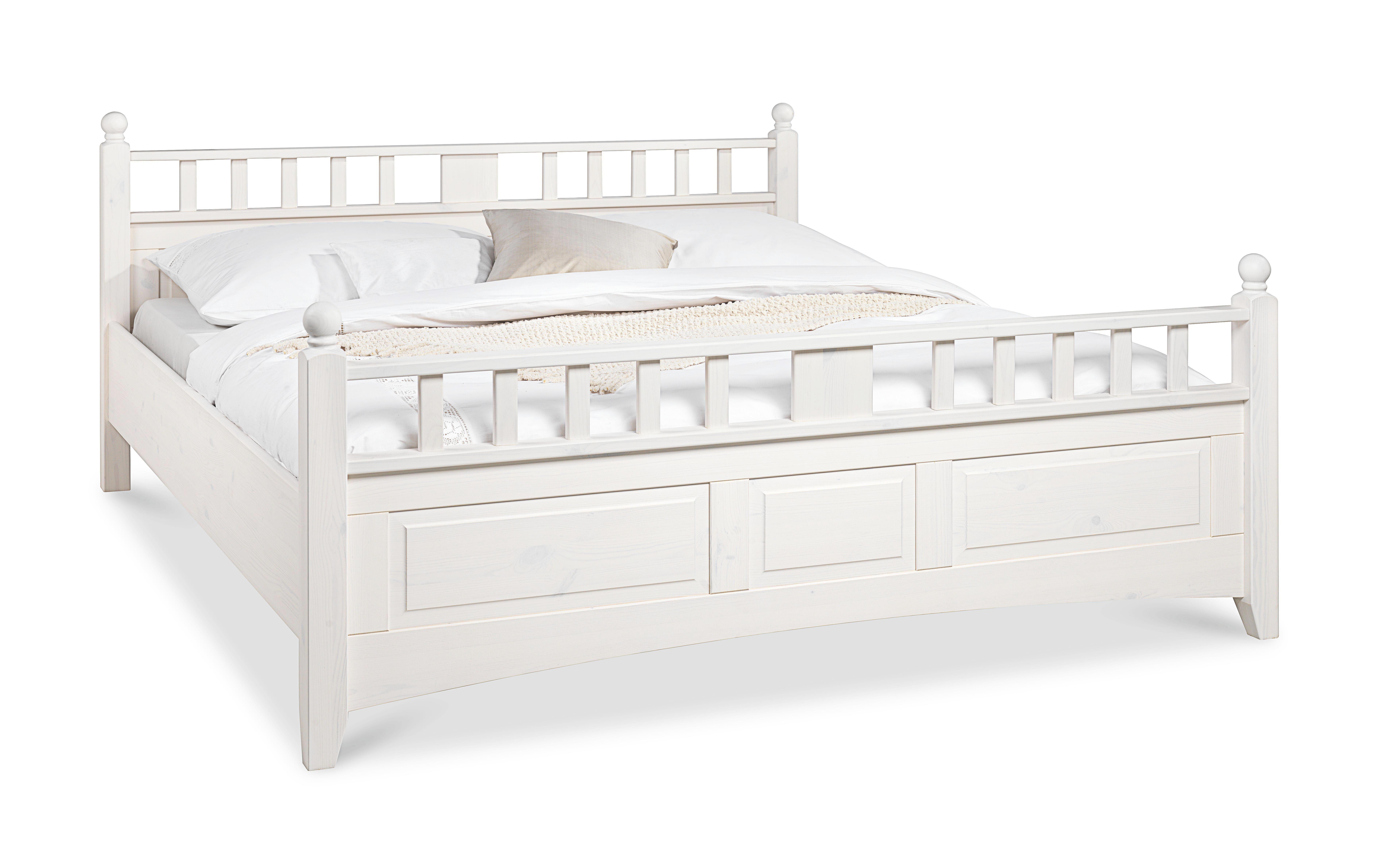 Bett weiß  BETT 180 cm x 200 cm in Holz Weiß online kaufen ➤ XXXLutz