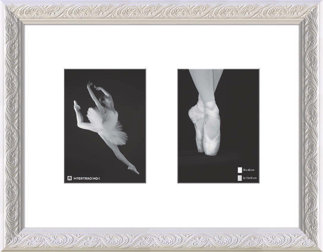 COLLAGEN-BILDERRAHMEN in Weiß - Weiß, Basics, Glas/Holz (47/37cm)