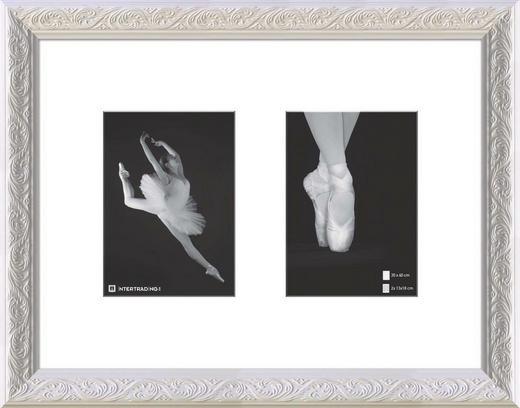 RÁM NA OBRAZOVÉ KOLÁŽE - bílá, Basics, dřevo/sklo (47/37cm)