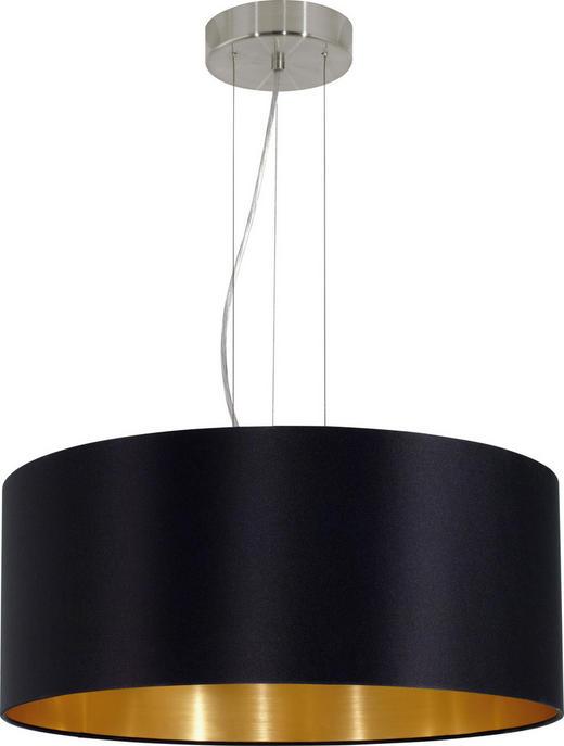VISEČA SVETILKA MASERLO, Ø 53 - črna/zlata, Konvencionalno, kovina/tekstil (53/110cm)