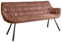 SITZBANK Struktur Braun, Schwarz  - Schwarz/Braun, Design, Textil/Metall (177,5/87,5/64cm) - Hom`in