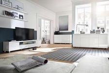LOWBOARD 190/47/40 cm  - Chromfarben/Weiß, Design, Holzwerkstoff/Metall (190/47/40cm) - Xora