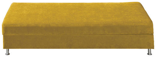 LIEGE Gelb - Chromfarben/Gelb, KONVENTIONELL, Textil/Metall (200/48/90cm) - NOVEL