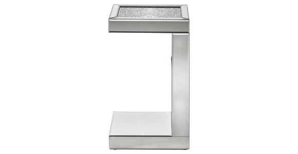BEISTELLTISCH in Glas, Holzwerkstoff  - Silberfarben, Design, Glas/Holzwerkstoff (30,5/50,5/30,5cm) - Xora