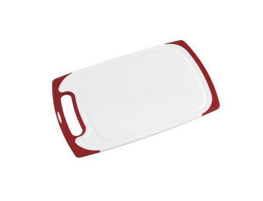 SCHNEIDEBRETT - Rot/Weiß, Basics, Kunststoff (40,5/24,5/1cm) - Homeware