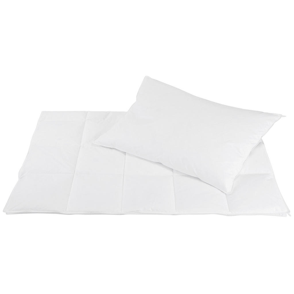 Sleeptex SOUPRAVA PŘIKRÝVKY A POLŠTÁŘE, peří, prachové peří, 140/200 cm - bílá
